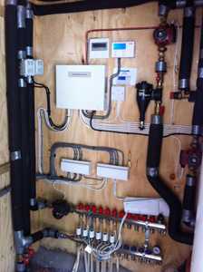 Plumbing and Electrical Installation for the Air Source Heat Pump