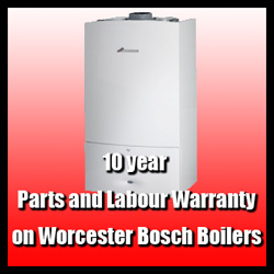 10 year parts and labour waranty on Worcester Bosch Boilers